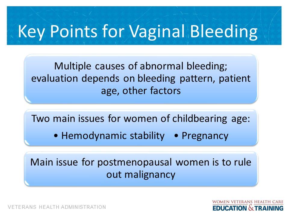 Key Points For Vaginal Bleeding
