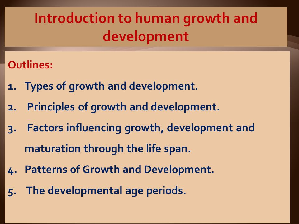 concept of growth and development ppt