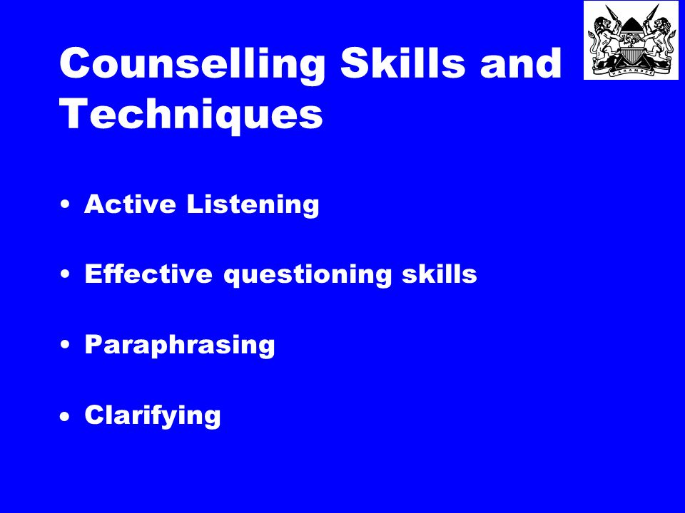 Counselling technique.