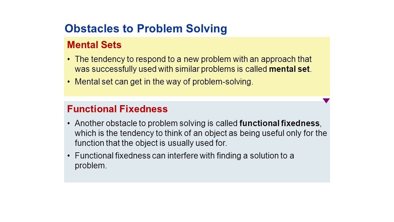 in regard to problem solving functional fixedness __________ solutions