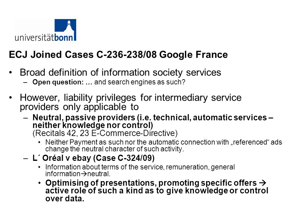ECJ Joined Cases C /08 Google France