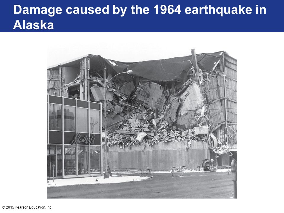 Damage caused by the 1964 earthquake in Alaska