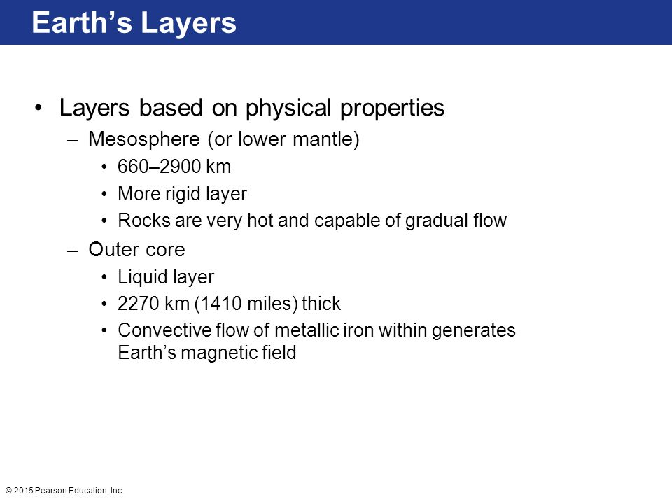 Earth's Layers Layers based on physical properties