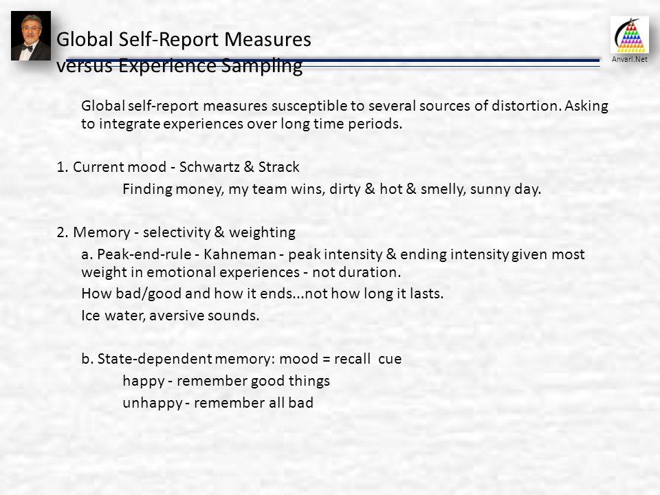 Self assessment and positive psychology organizational behavior global self report measures versus experience sampling solutioingenieria Gallery