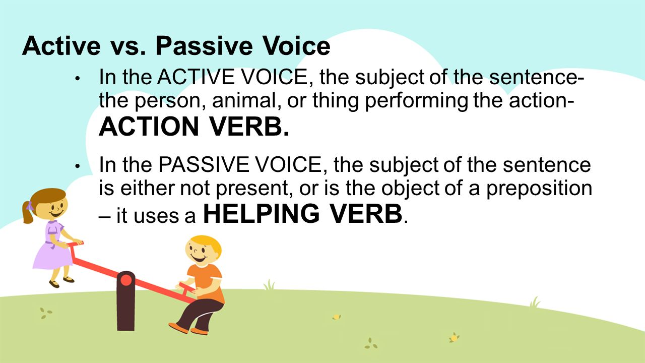 Active Voice and Passive Voice in English: Rules and Examples 58