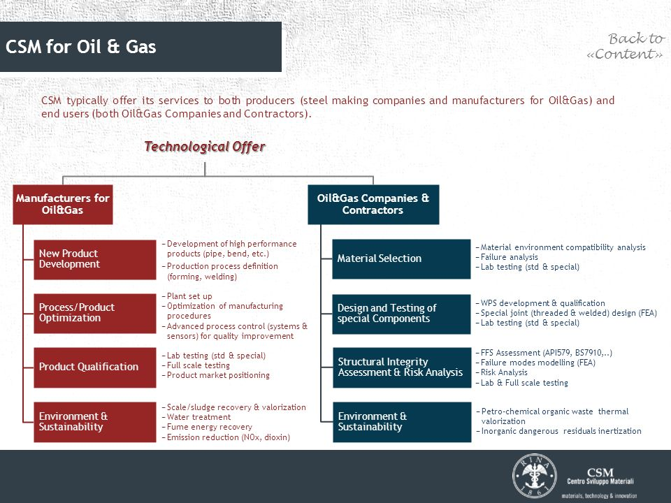 CSM main services to the Oil & Gas Industry - ppt download