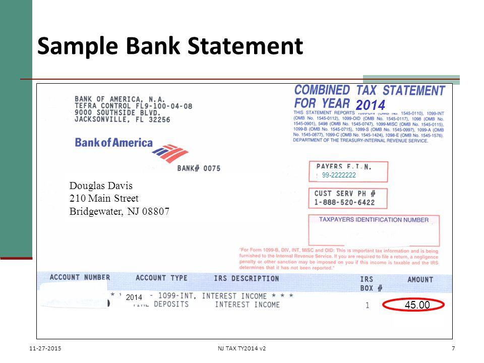 7 Sample Bank Statement ...
