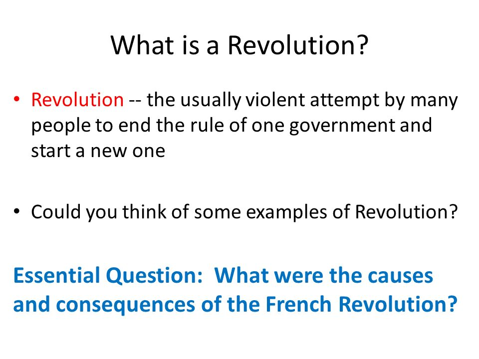causes and consequences of the french Causes of the french revolution the causes of the french revolution can be attributed to several intertwining factors: cultural: the enlightenment philosophy desacralized the authority of the monarchy and the catholic church, and promoted a new society based on reason instead of traditions.