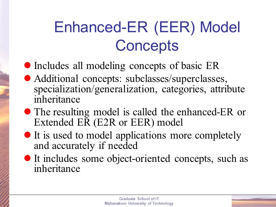 Topic 4 Part I Enhanced Entity Relationship And Uml Modeling Ppt