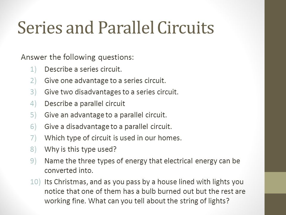Series and Parallel Circuits - ppt download