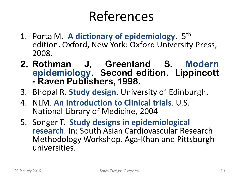 Study Designs In Health Research An Overview Ppt Video Online