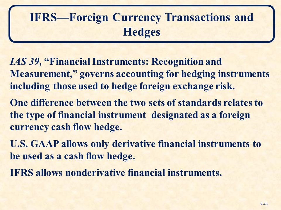 Ifrs Foreign Currency Transactions And Hedges