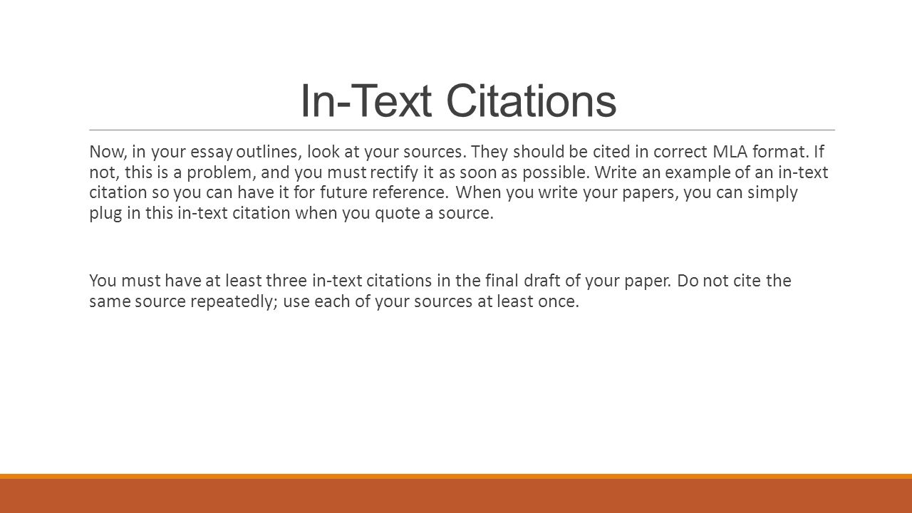 InText Citations MLA Format ppt download