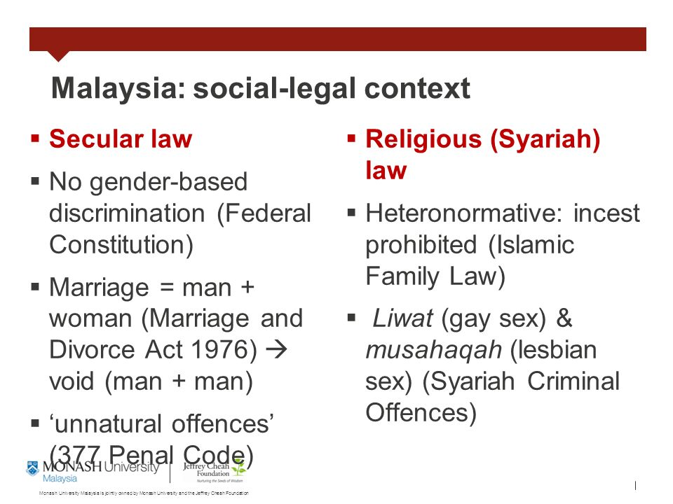 Socio cultural context of sex in malaysia
