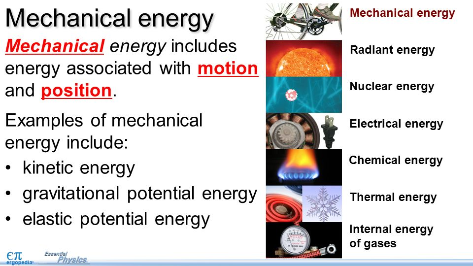 Forms Of Energy Pg 33 This Is The First Lesson On Work And Energy