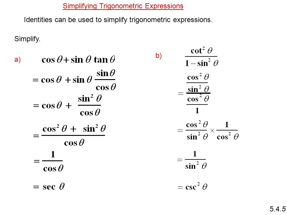 Simplifying Trig Expressions Worksheet Pdf Idea Gallery