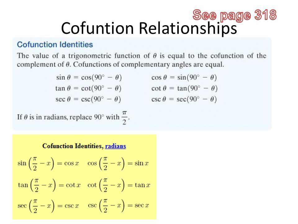 3 Cofuntion Relationships