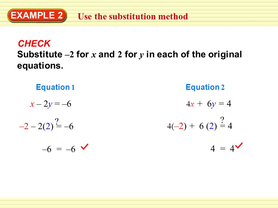 Use The Substitution Method Ppt Video Online Download