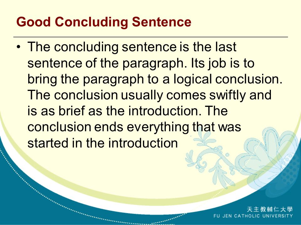 what is a good closing sentence