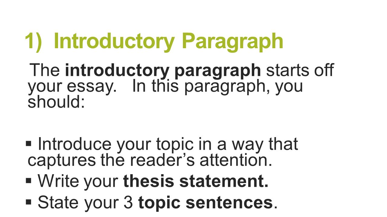 how to start off your introduction paragraph