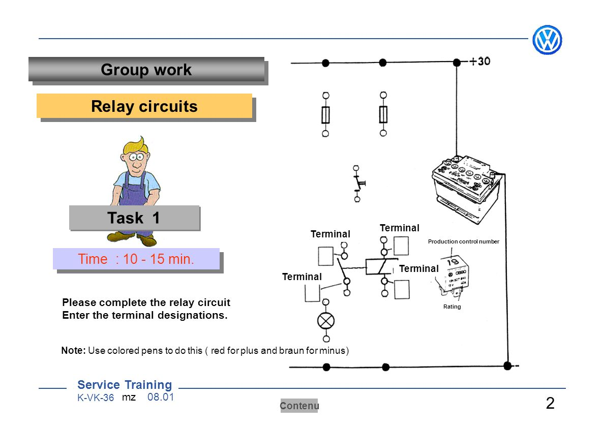 Ab 070 Worksheets Bt 075 Arbeitsbltter 1 Sensoren Aktoren Ppt Relay Circuit And Working Group Work Circuits Task