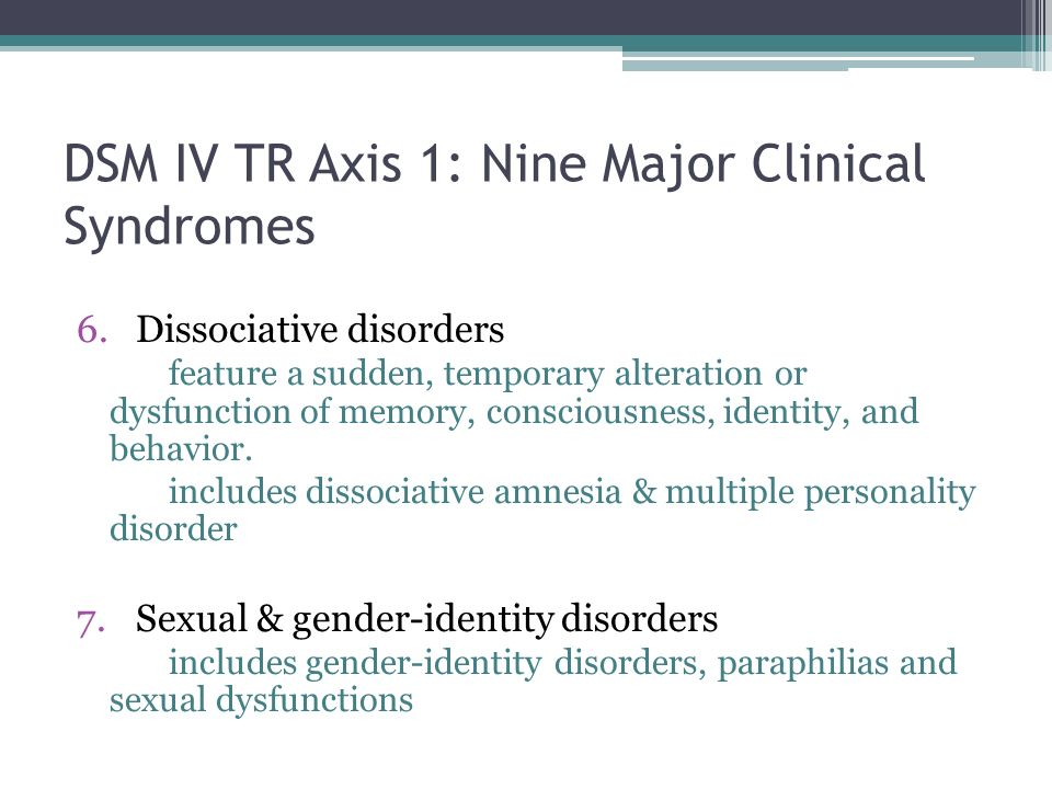 dsm iv tr case studies Each is followed by a multiaxial diagnosis and the dsm-iv-tr diagnostic criteria for the primary diagnosis illustrated, some dry but useful guidelines for differential diagnosis, concise guidelines on treatment planning and a brief summary.