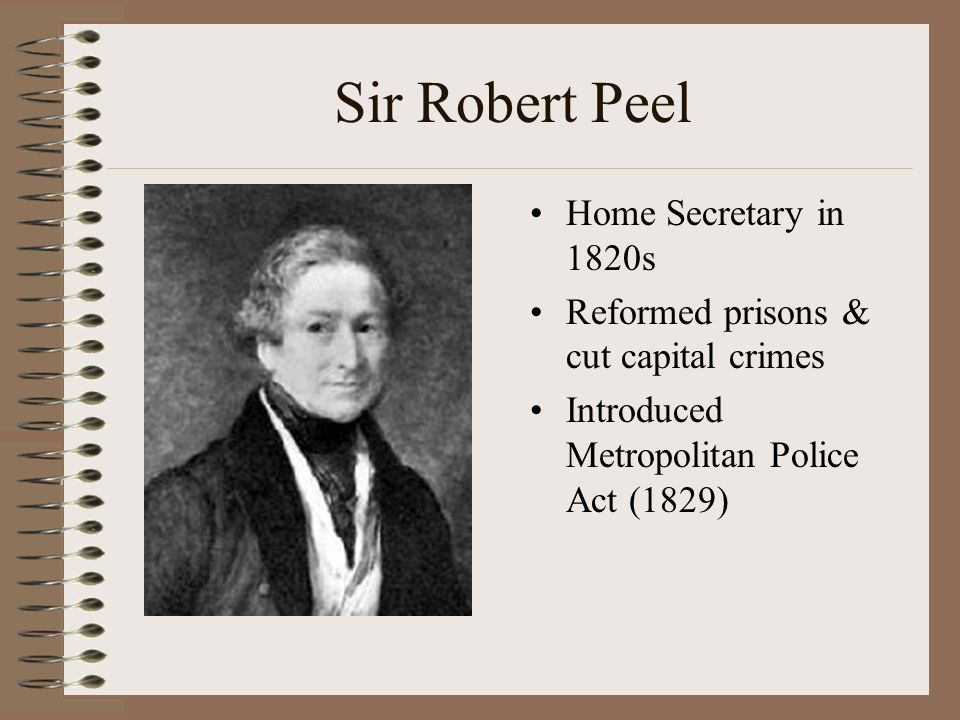 sir robert peel criminal justice