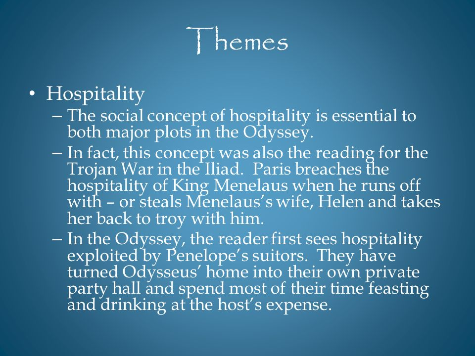 themes in the odyssey
