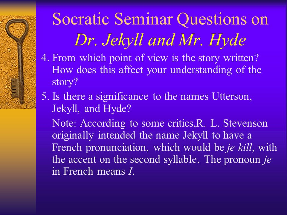 dr jekyll and mr hyde essay prompts First chapter of the strange case of dr jekyll and mr hyde essay example - first chapter of the strange case of dr jekyll and mr hyde 'the strange case of dr jekyll and mr hyde' is a novella, short novel, which was published in the victorian era.