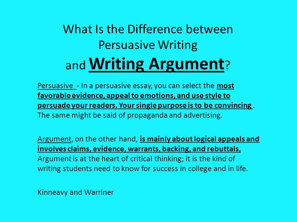 argumentative style of writing