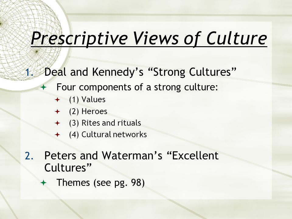 peters and waterman culture