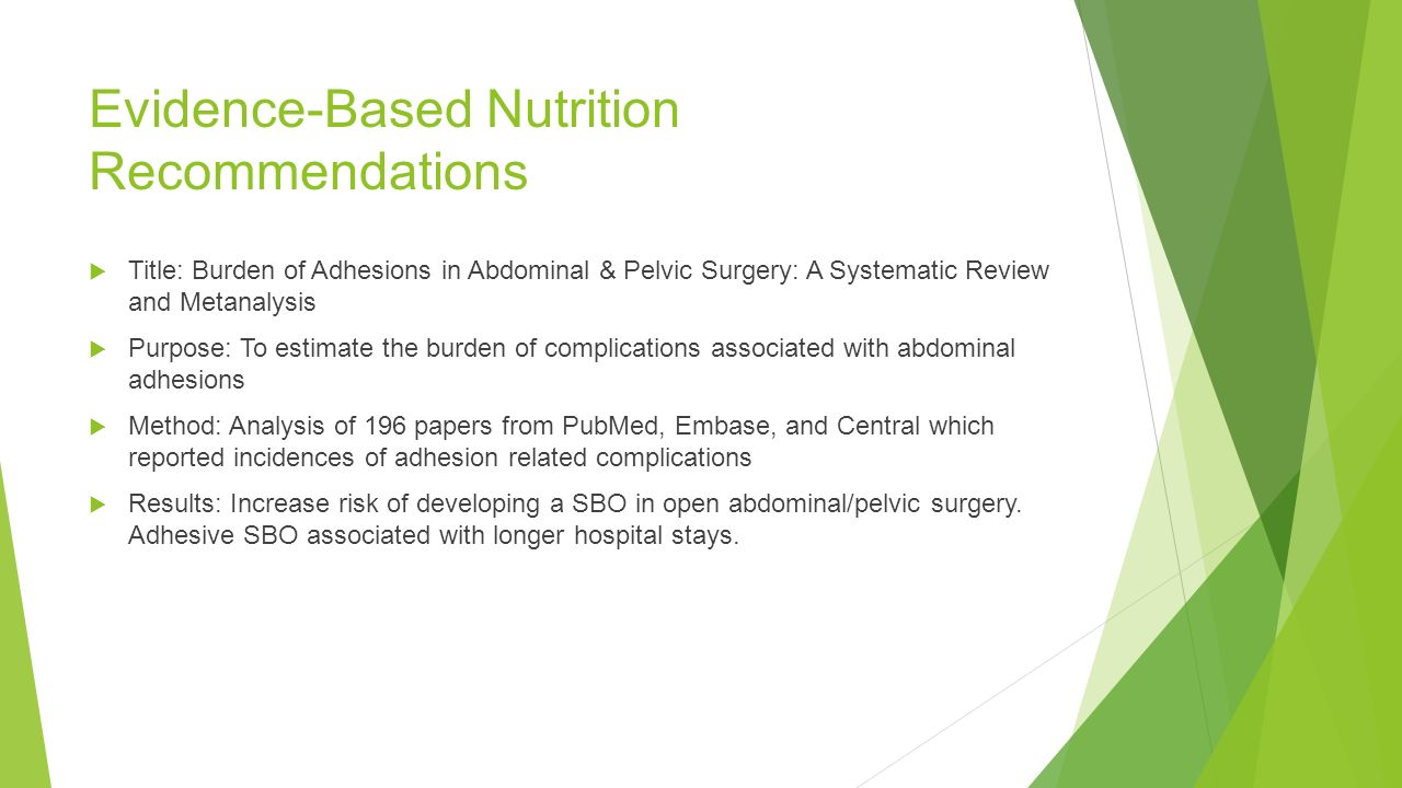 6 Evidence Based Nutrition Recommendations