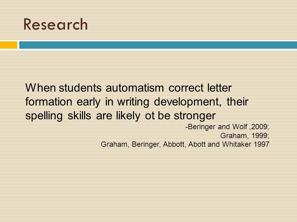 Specialized Instruction In Written Expression Handwriting Ppt