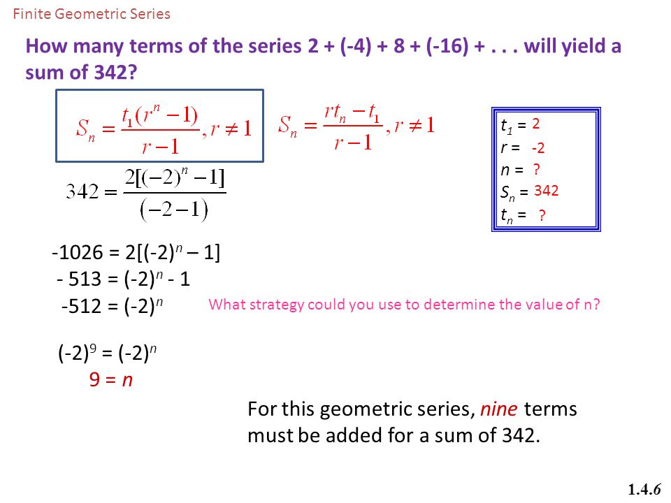 Math 20-1 Chapter 1 Sequences and Series - ppt download
