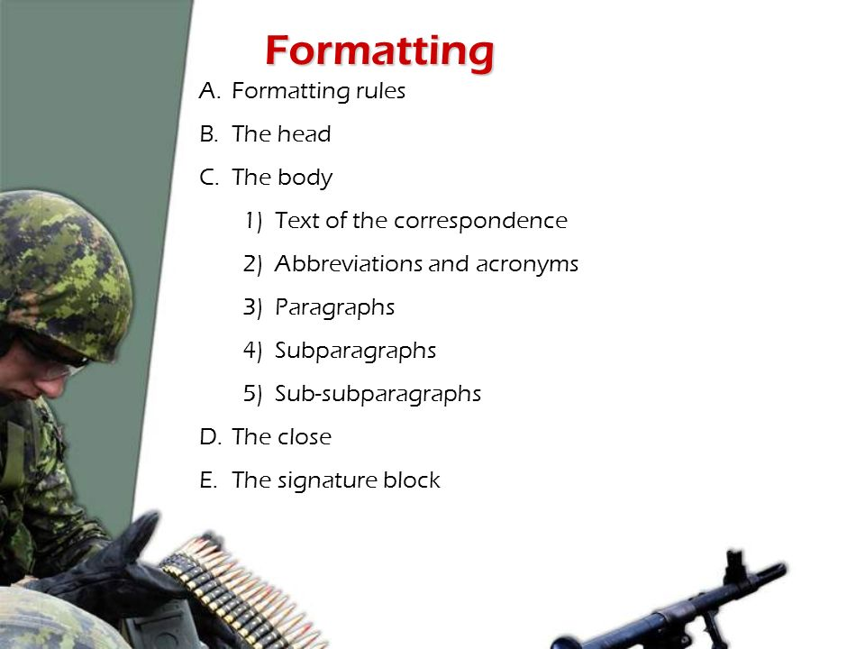 military correspondence rules
