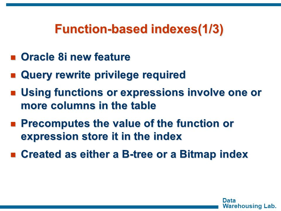 function based index in oracle