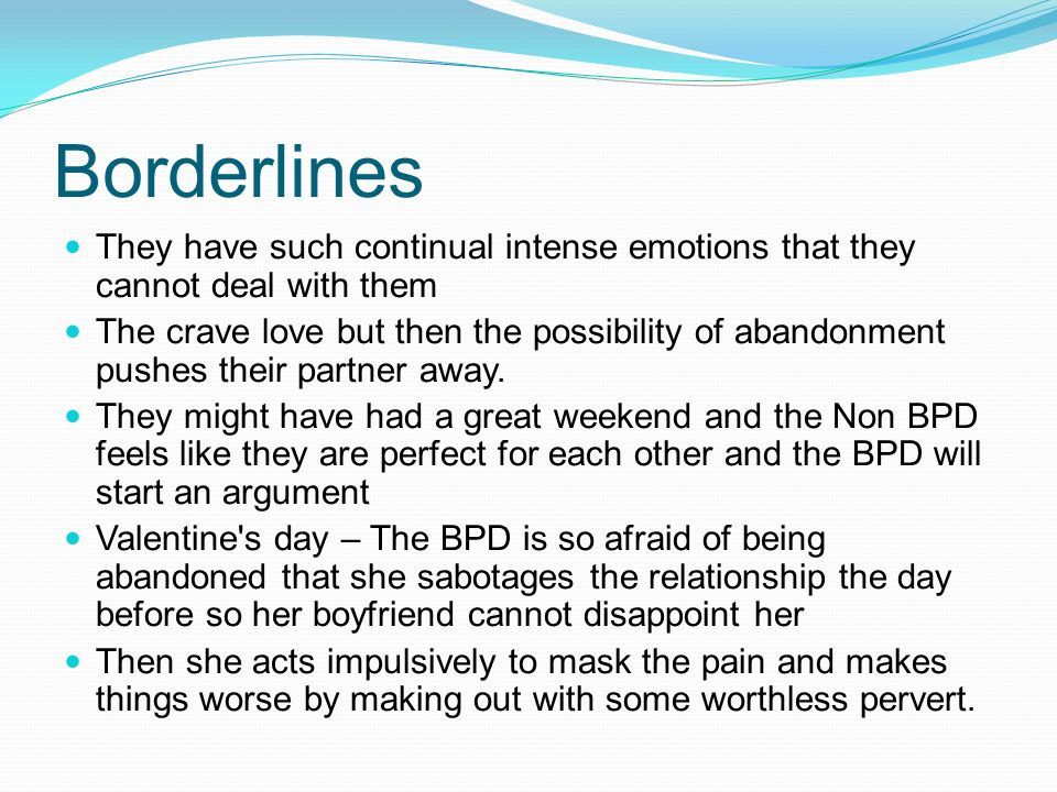 Narcissist dating a borderline 10