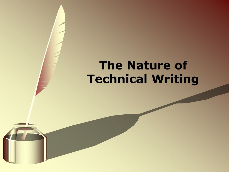 nature of technical writing