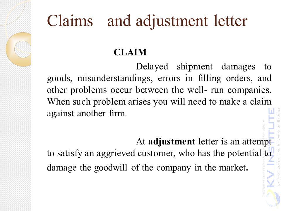 Unit iv ppt download claims and adjustment letter altavistaventures Image collections