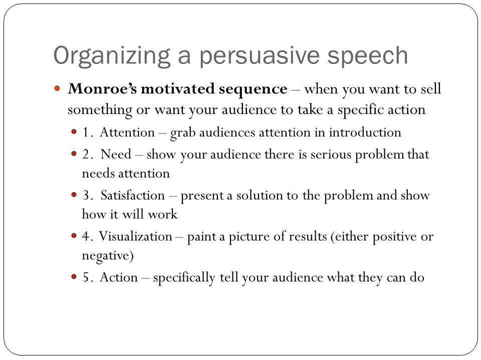 Buy persuasive speech