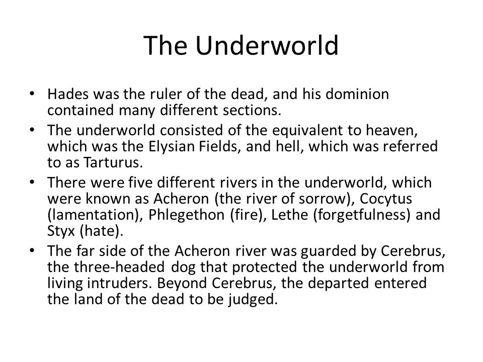 Hades God Of The Underworld Ppt Video Online Download