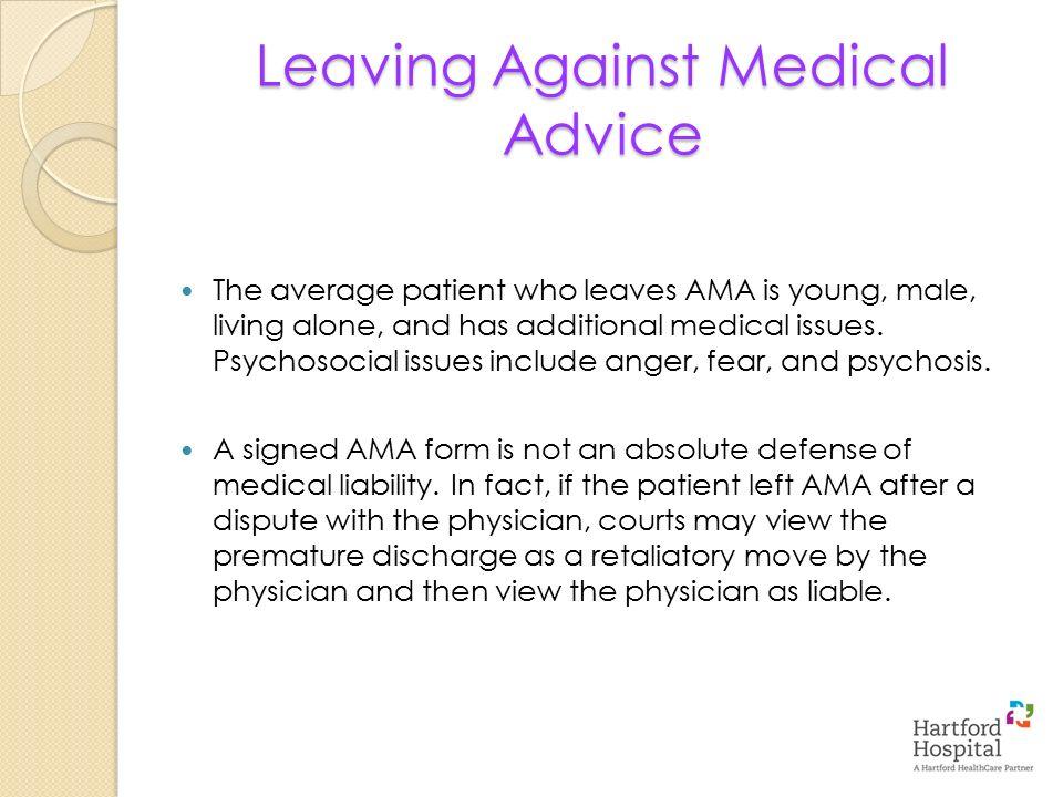 Leaving Against Medical Advice