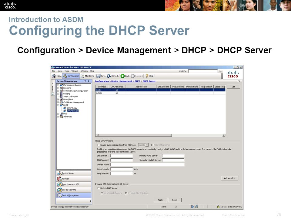 Chapter 9: Implementing Cisco the Adaptive Security