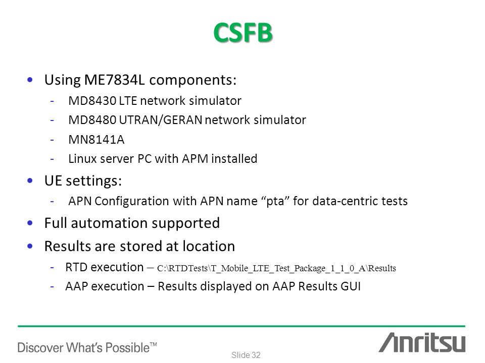 MX786201A-460 TMobile LTE Test Package - ppt download
