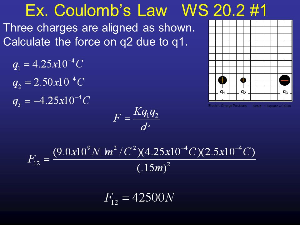 The Study Of Electric Charges Ppt Download. Ex Coulomb's Law Ws 202 1 Three Charges Are Aligned As Shown Calculate. Worksheet. Coulomb S Law Static Electricity Worksheet Answers At Clickcart.co