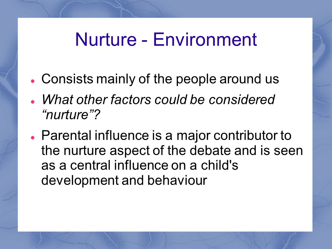 nature versus nurture definition