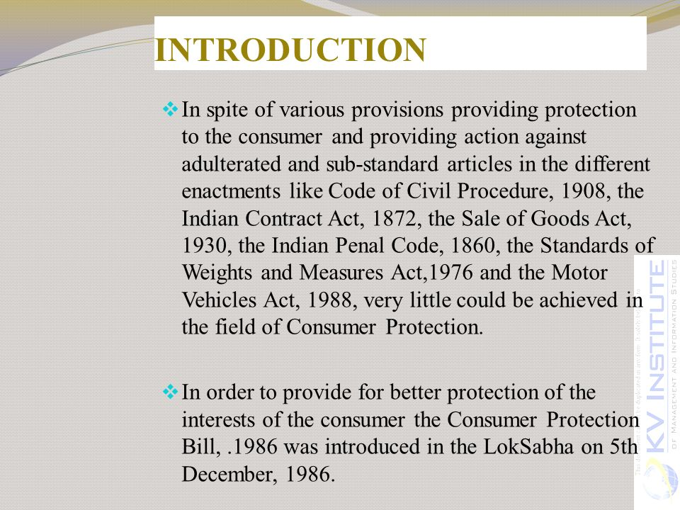 indian consumer protection act 1986 pdf