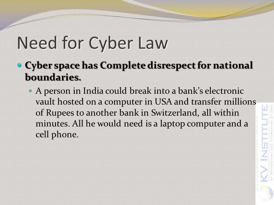 Cyber law in india: its need & importance.