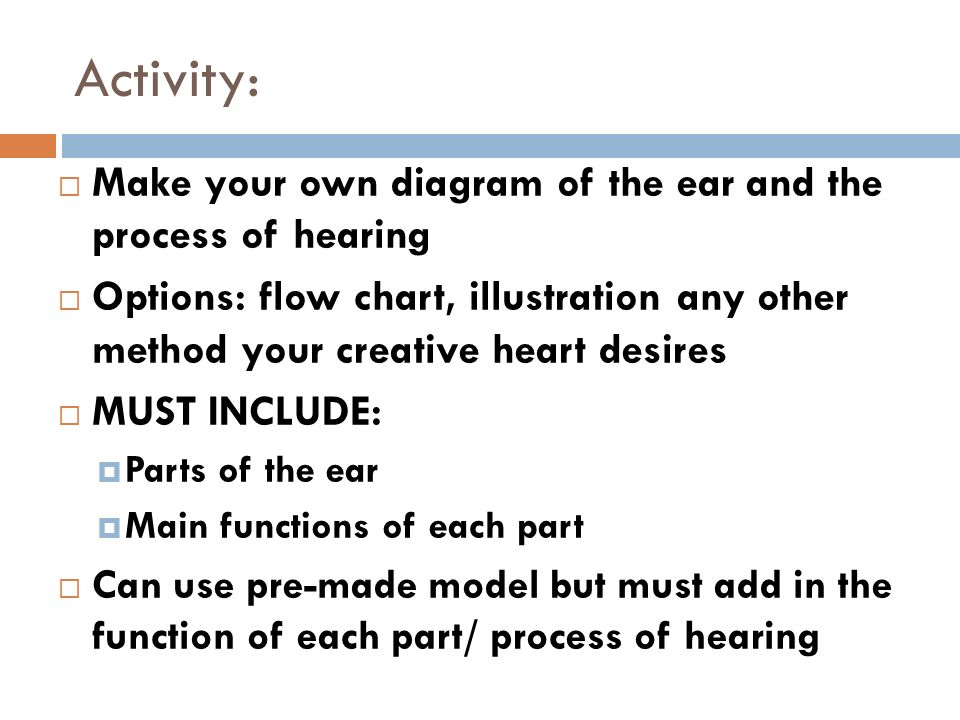 Wed mar 12 do now what kind of wave is a sound wave ppt video activity make your own diagram of the ear and the process of hearing ccuart Choice Image