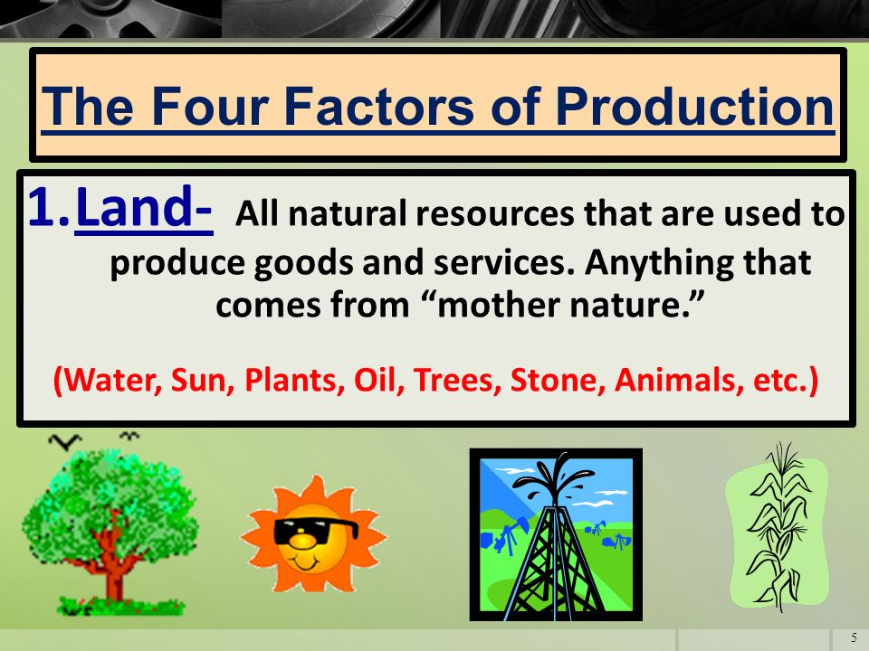All Natural Resources Used In Production Are Classified As The